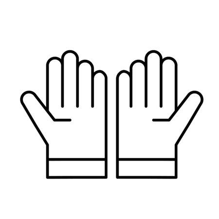 Glove line icon 向量圖像