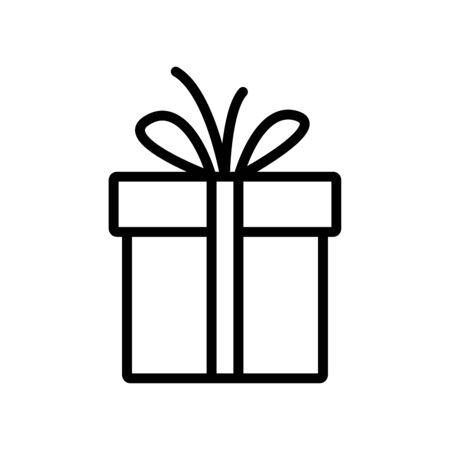 Gift box line icon Vecteurs