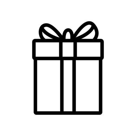 Gift box line icon Vettoriali