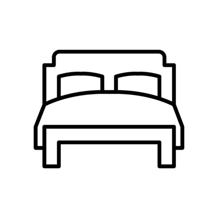Double bed line icon