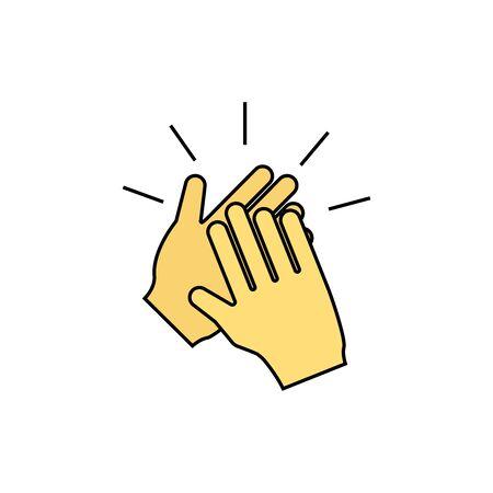Clapping , applause icon Ilustración de vector