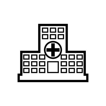 Hospital line icon