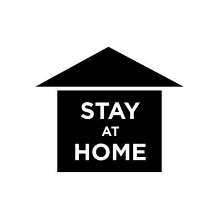 Stay at home letter, symbol logo Vettoriali