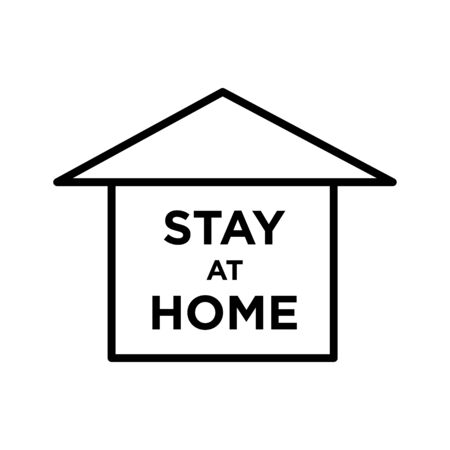 Stay at home leeter and symbol