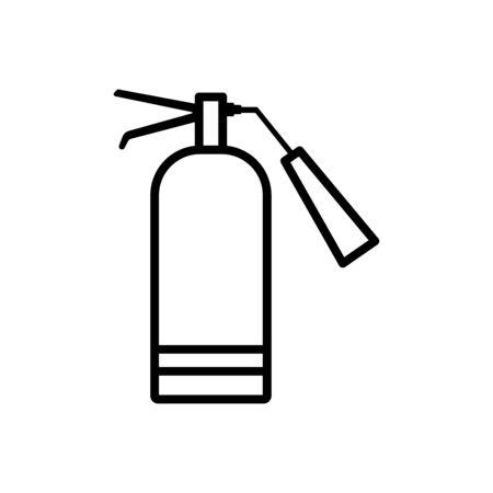 Fire extinguisher line icon