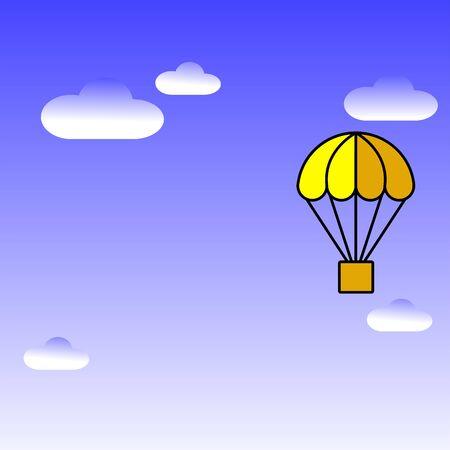 Hot air balloon icon illustration