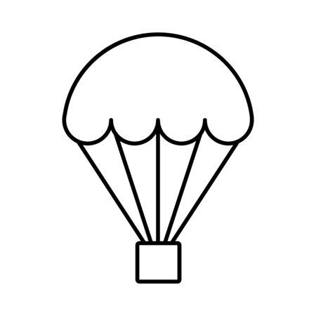 Hot air balloon line icon Vettoriali