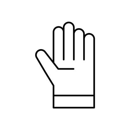 Glove line icon Vettoriali