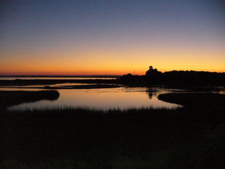 Cape Cod zonsondergang Stockfoto