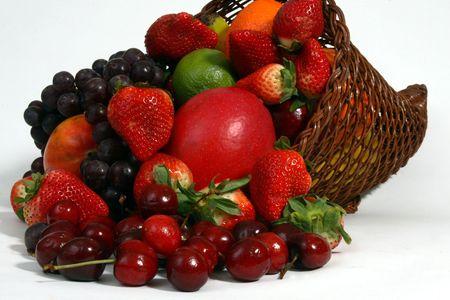 Fruit basket close-up photo