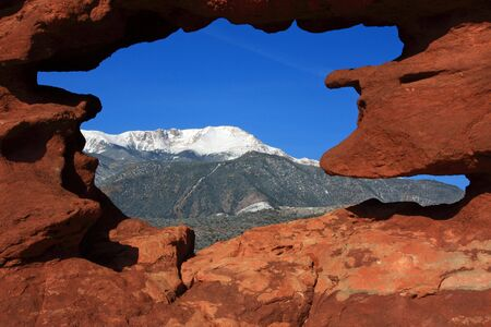 gods: Pikes Peak framed Stock Photo