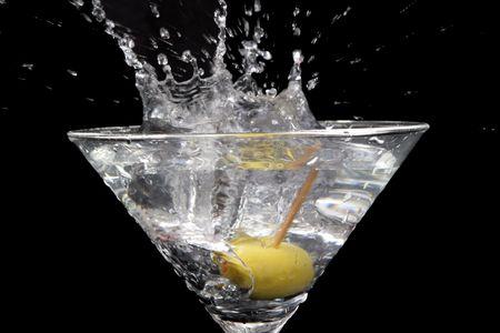 martini splash: Martini splash Stock Photo