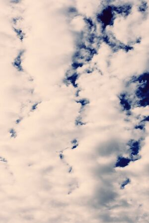 Cloudy blue gray spring sky natural background Stock Photo