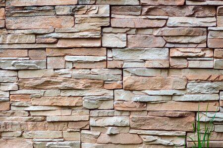 Texture gros plan de fond de mur de briques grises rugueuses