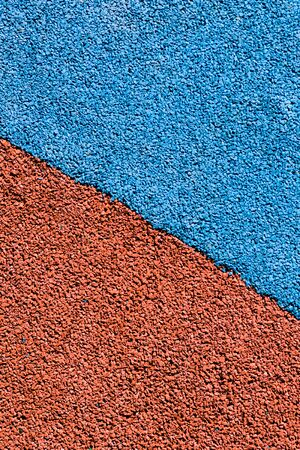 Rubber colored coating of sport playground background