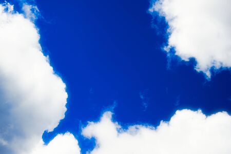 Blue gray cloudy spring sky natural background Stock Photo