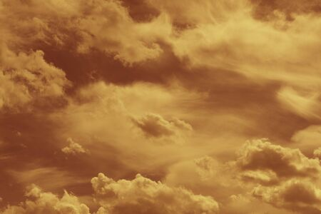 Filtered gray cloudy spring sky natural background Stock Photo