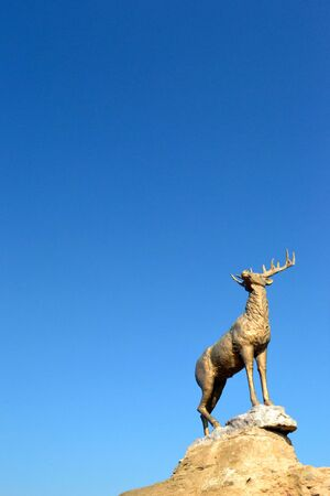 Plastik: a statue of a deer Stock Photo