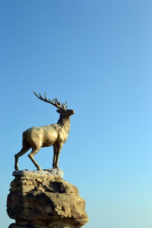 a statue of a deer Stock Photo