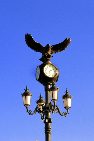 old clock with an eagle