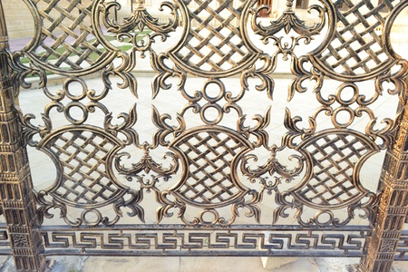 a pattern of metal