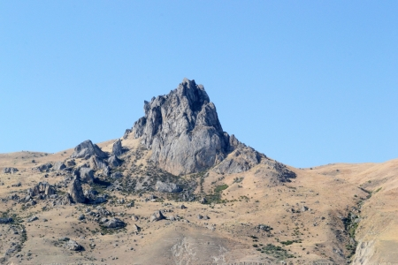 rock Beshbarmag in Azerbaijan