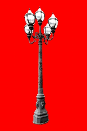 lamp on the street isolated Stock Photo