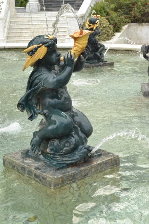 statue in the fountain Stock Photo