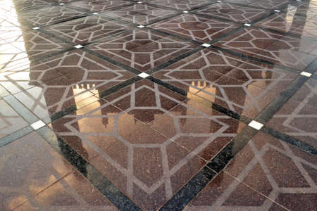 a reflection of the mosque