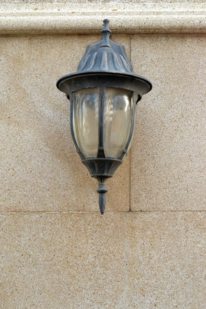 street lamp on the wall Stock Photo