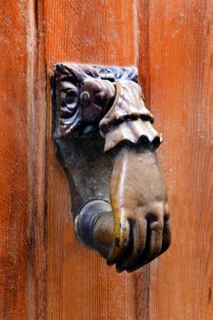 Old bell on the door