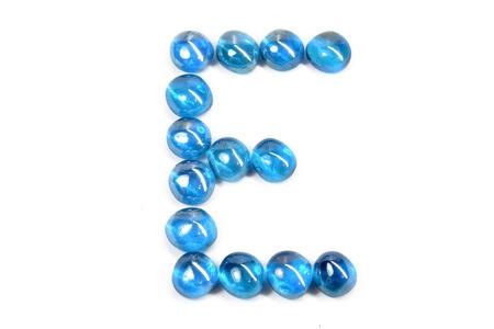 glass letter E