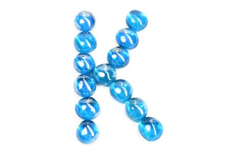 glass letter K