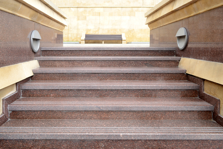 red marble staircase Stock Photo