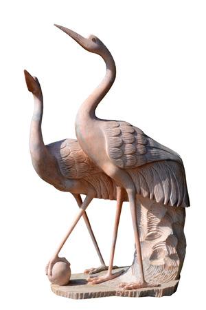 sculpture stork
