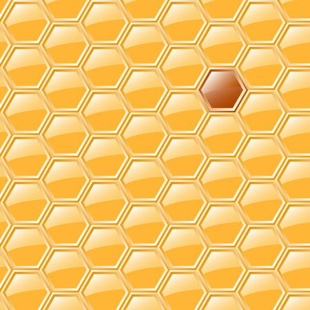 wax glossy: Sweet honeycomb