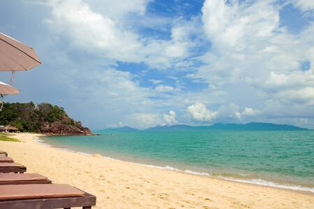 The Sunny Maenam beach of Koh Samui, Thailand Stock Photo