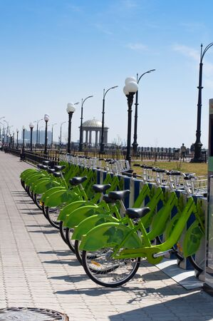 ambiente: The Urban rentable bike in parking