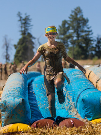 BOISE, IDAHOUSA - AUGUST 10, 2013: at the The Dirty Dash