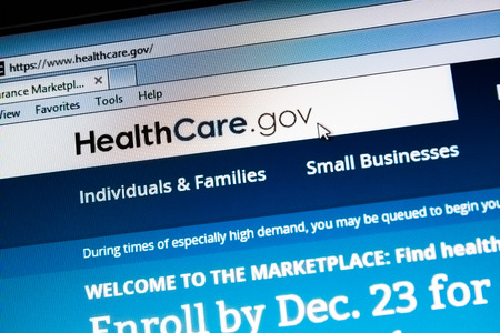 CALDWELL, IDAHO/USA - DECEMBER 6: View of the healthcare.gov website in Caldwell, Idaho on December 6, 2013. Healthcare.gov is the website for the government marketplace for the Affordable Care Act passed by President Obama Editorial