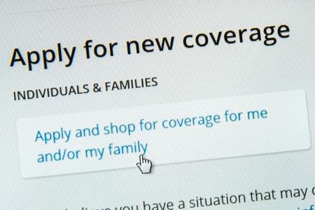 BOISE,IDAHOUSA - DECEMBER 21 2013: Applying for coverage on the healthcare.gov website.