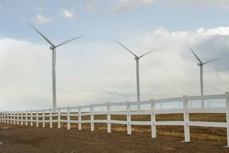 Fence that surrounds a wind farm while it creates power