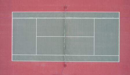 arial view of an old tennis court