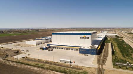 CALDWELL, IDAHO - APRIL 13, 2020: Simplot factory in Idaho where they make food