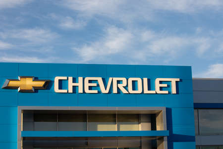 NAMPA, IDAHO - APRIL 28, 2020: Chevrolet Dearship as part of the Kendal Auto Mall Editorial