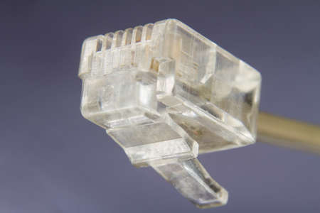 macro of a plug for a communications device
