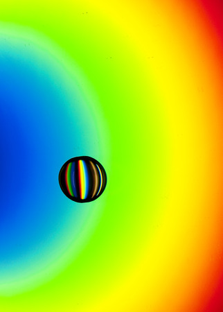 Water Drop on a CD Rainbow
