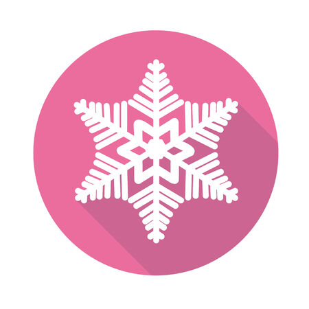snowflake icon with a long shadow Vector