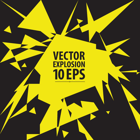 Abstract explosion. Vector illustration.