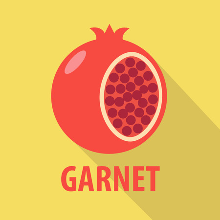 garnet: garnet icon in flat design with long shadows Illustration